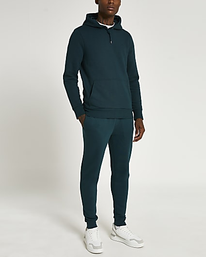 Green RI branded muscle fit joggers