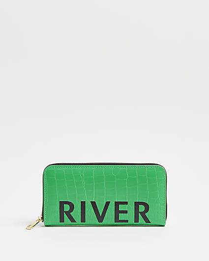Green RI branded purse