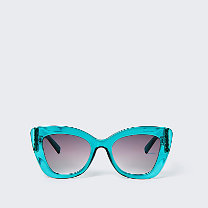Green RI chain glam sunglasses