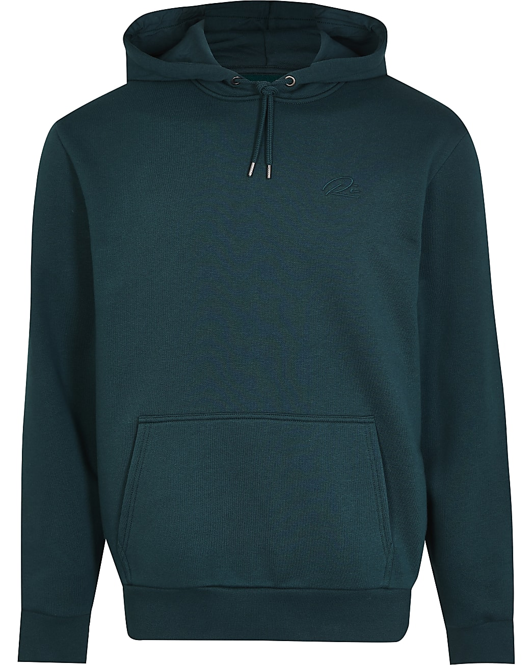 Green RI embroidered regular fit hoodie