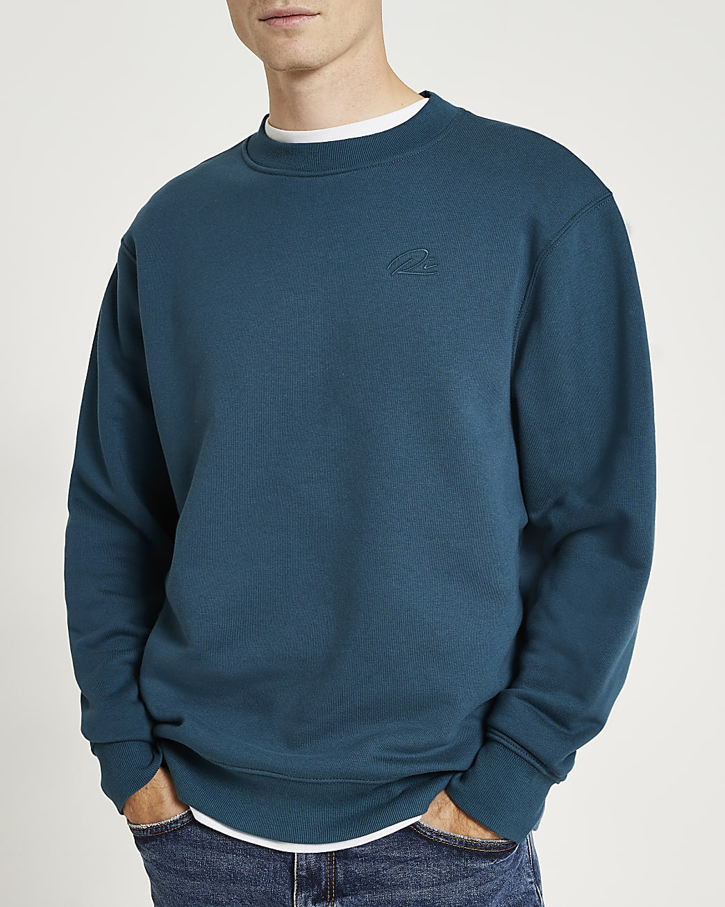 Green RI embroidered regular fit sweatshirt