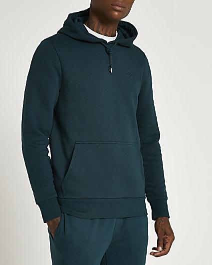 Green RI muscle fit hoodie