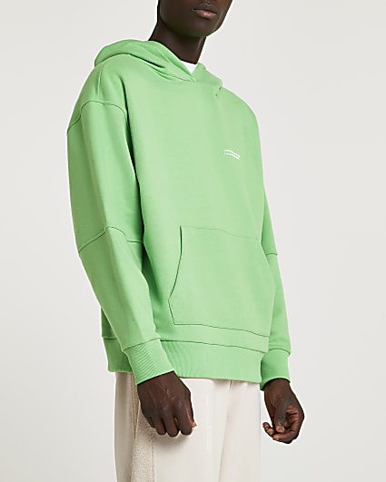 Green RI ONE graphic hoodie