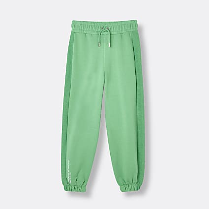 Green RI ONE panelled joggers