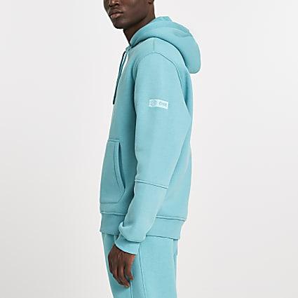 Green RI ONE signature hoodie