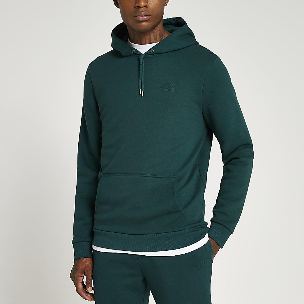 Green RI slim fit hoodie