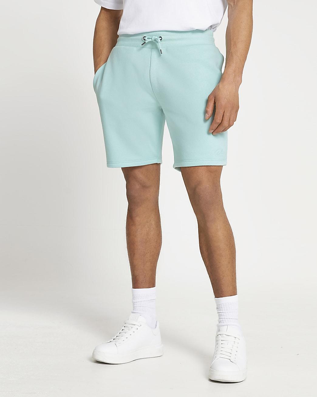 Green RI slim fit shorts