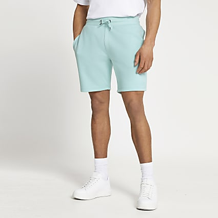 Green RI slim fit shorts
