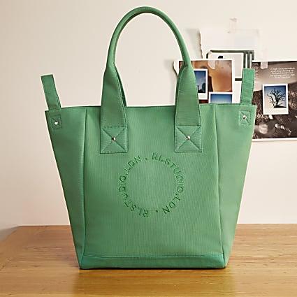 Green RI Studio canvas shopper bag