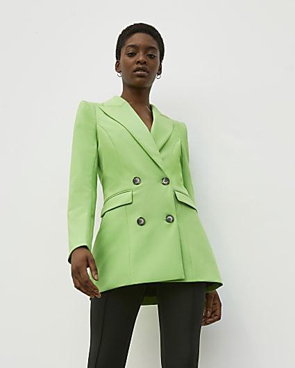 Green RI Studio Double Breasted Blazer