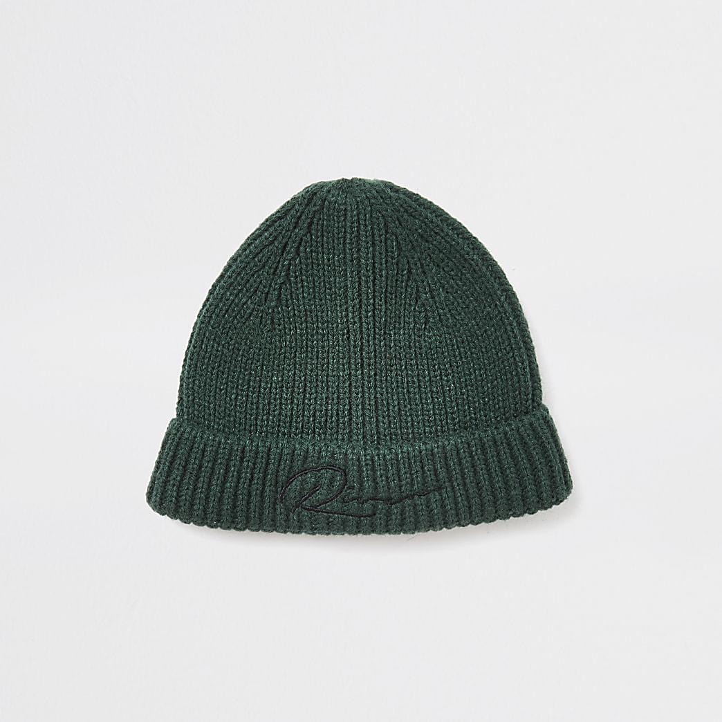 Green river knitted docker beanie hat