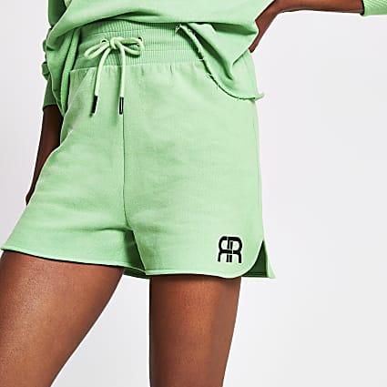 Green RR branded runner short