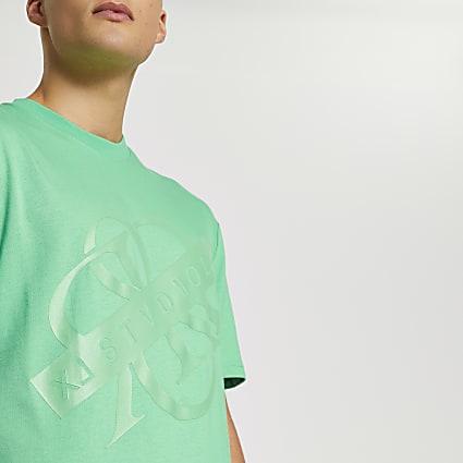 Green RR regular fit short sleeve t-shirt