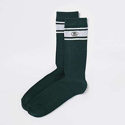 Green RR stripe socks