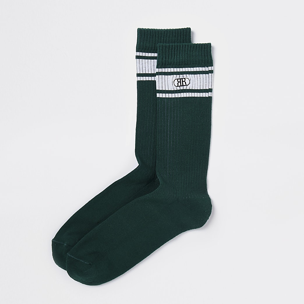 Green RR stripe socks