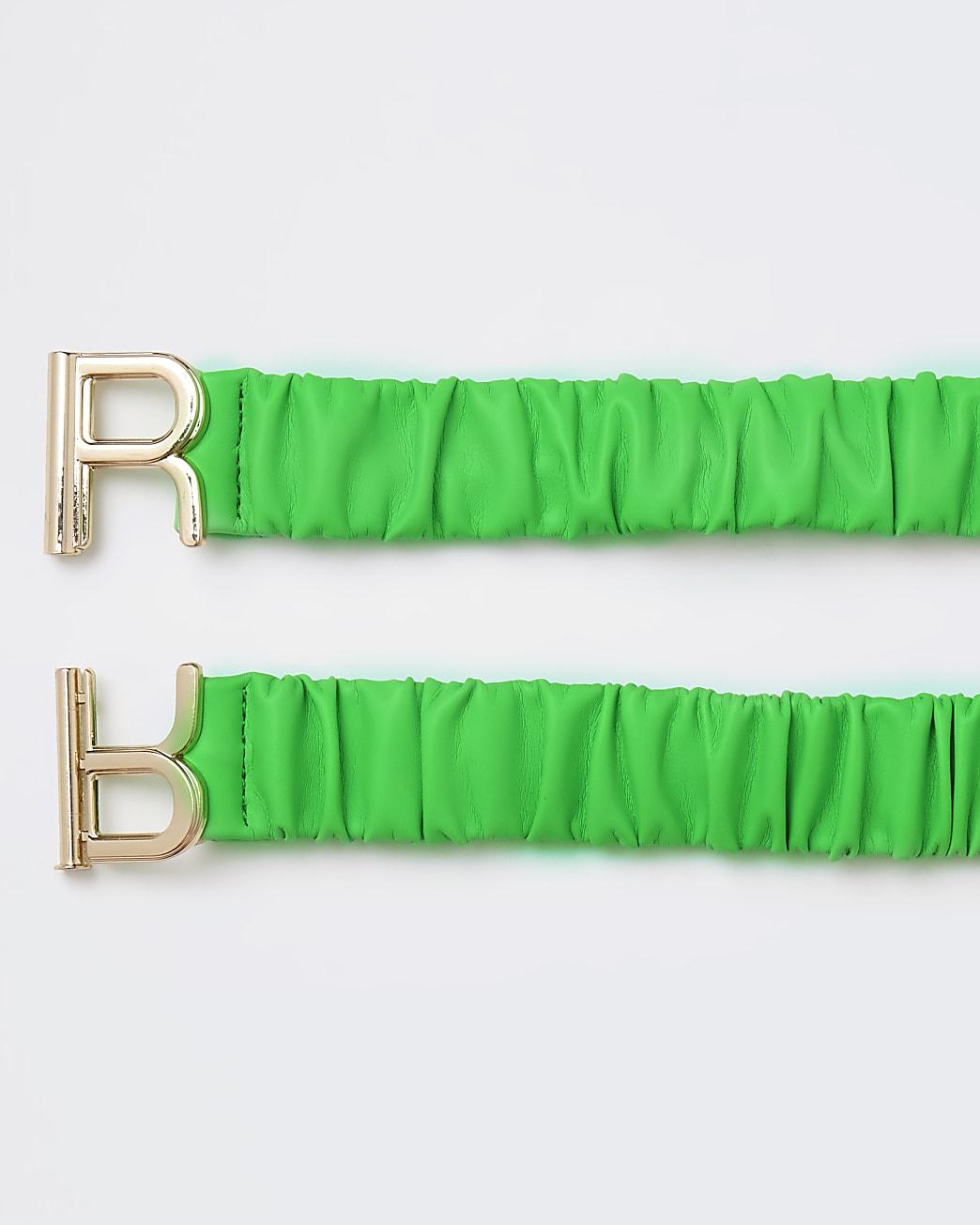 Green ruched belt