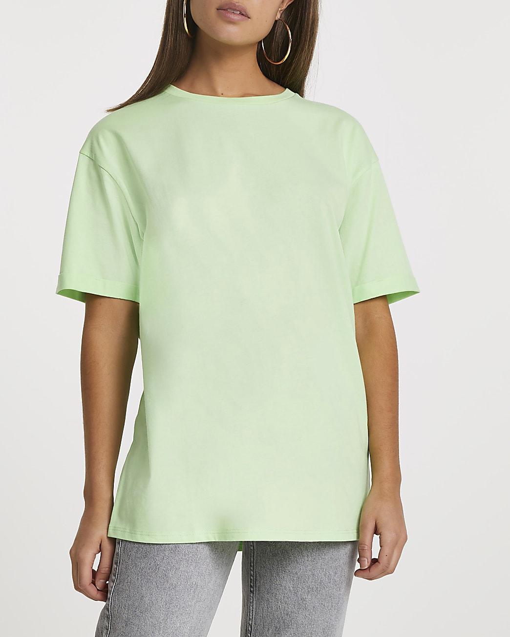 Green short sleeve boyfriend t-shirt