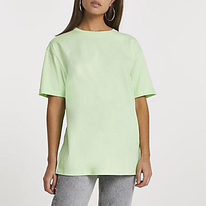Green short sleeve boyfriend t-shirt