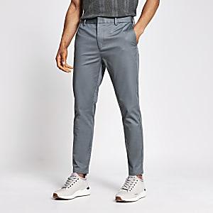 Green skinny chino trousers