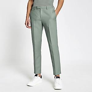 Grüne Anzughose mit Skinny-Fit