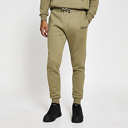 Green slim fit prolific joggers