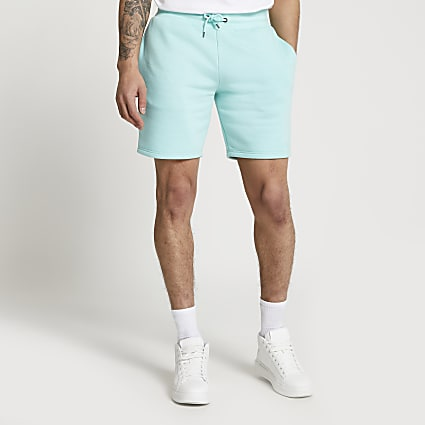 Green slim fit RI shorts