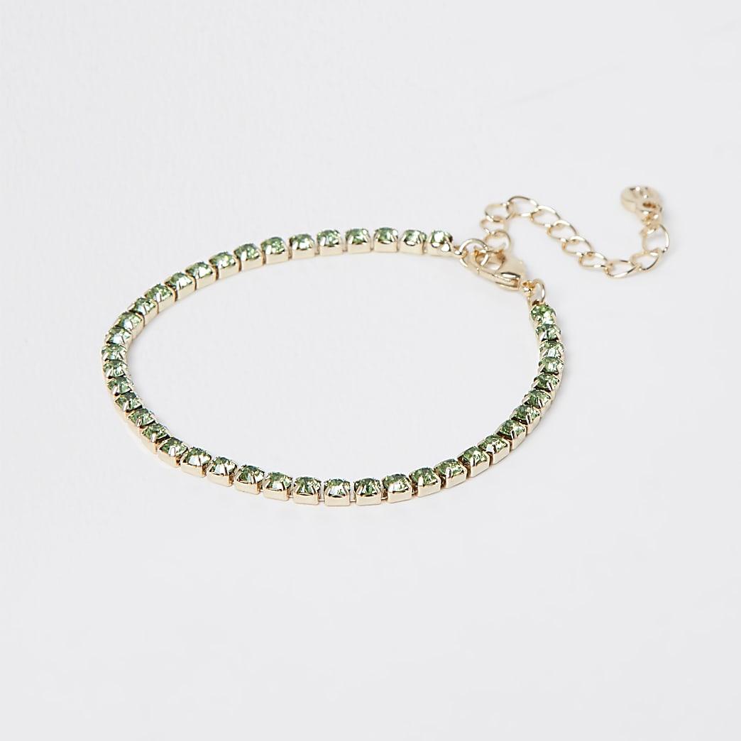 Green stone tennis bracelet