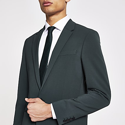 Green super skinny suit jacket