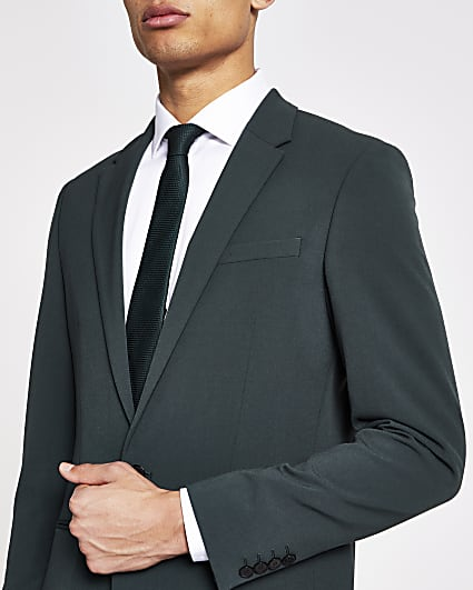 Green super skinny suit jacket