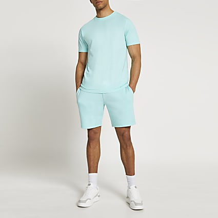 Green t-shirt and shorts set