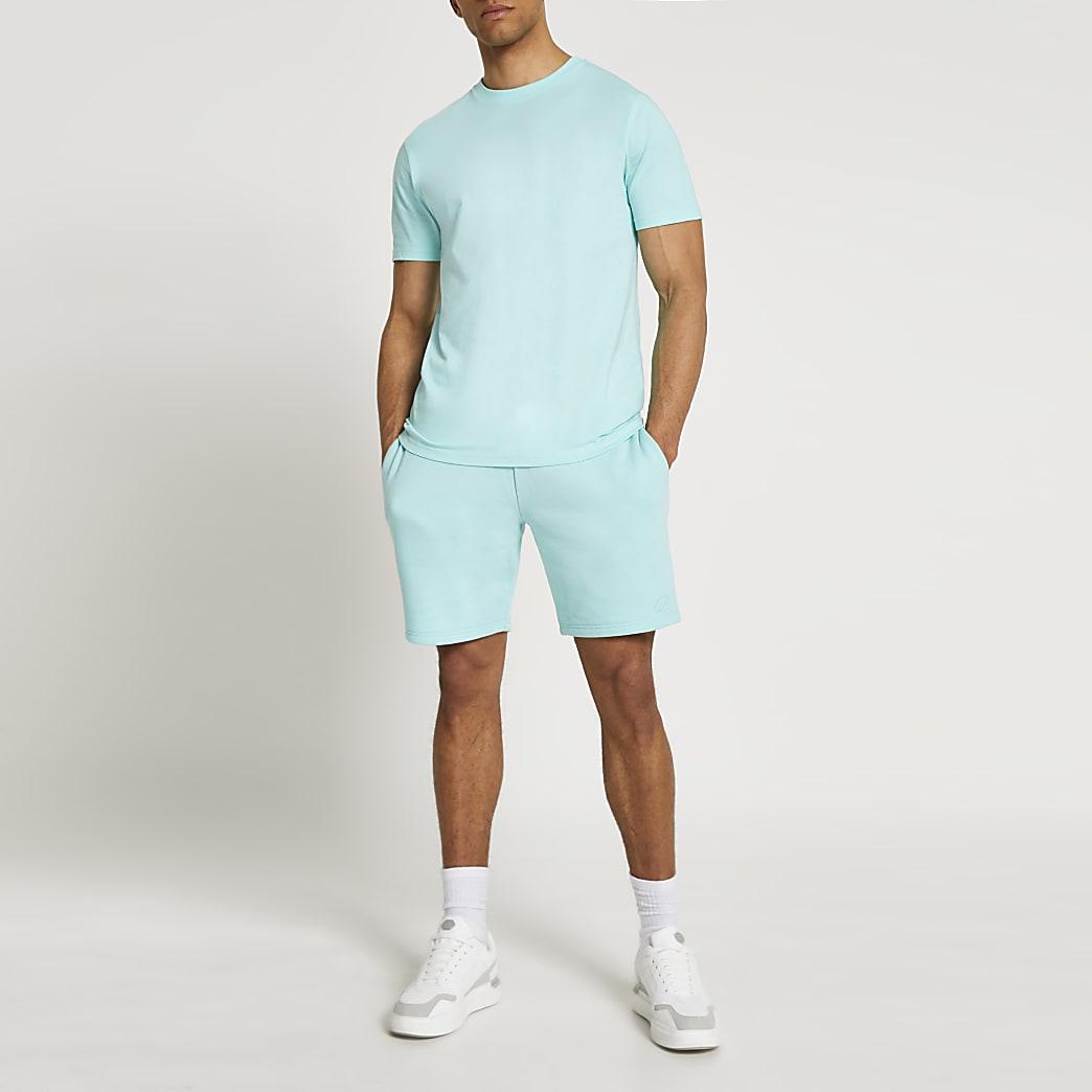 Green t-shirt and shorts set
