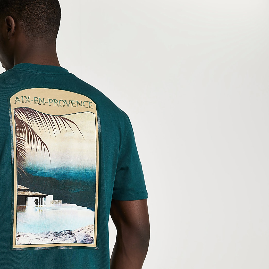 Green tropic t-shirt