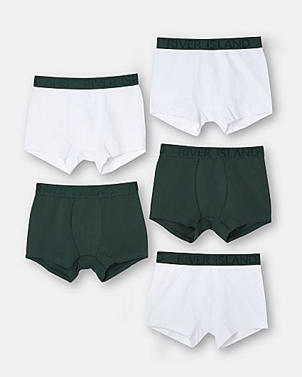 Green trunks 5 pack