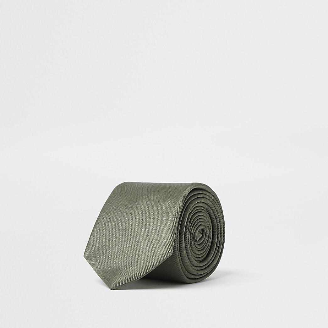 Groene stropdas van keperstof