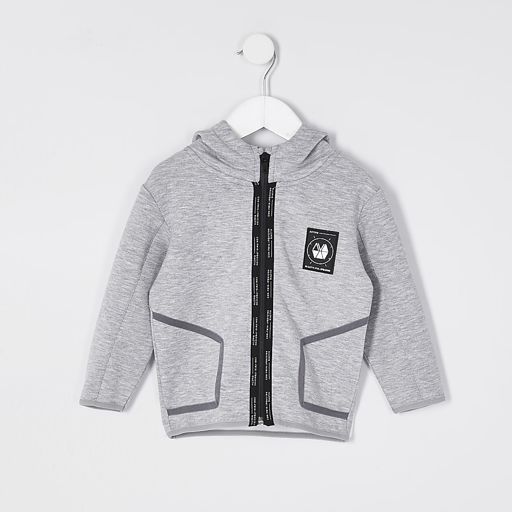 Grey - Marl MB Ri Active Slim Hoodie