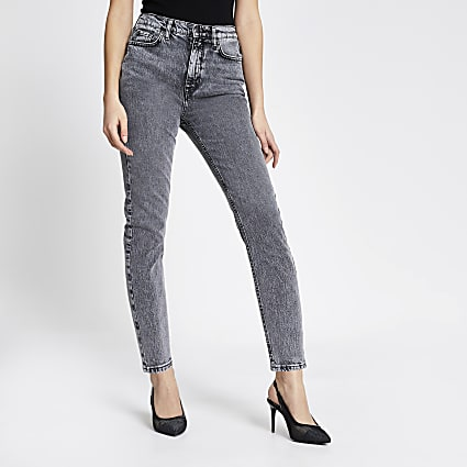 Grey acid wash Brooke high rise slim jeans