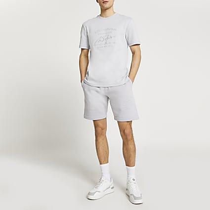 Grey 'Casa Studios' t-shirt and short set
