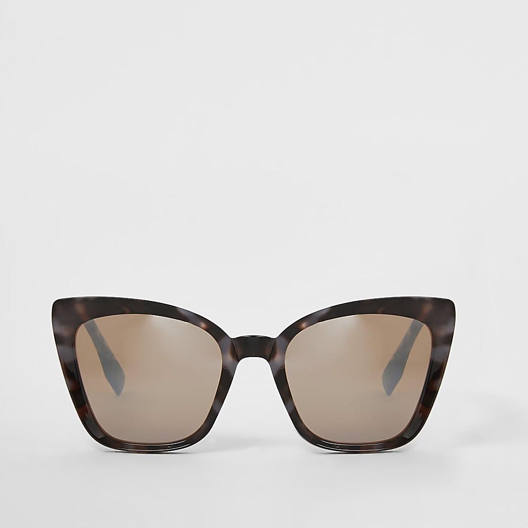 Grijze cat-eye-zonnebril