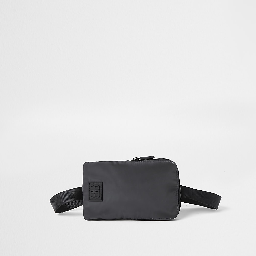 Grey cross body pouch