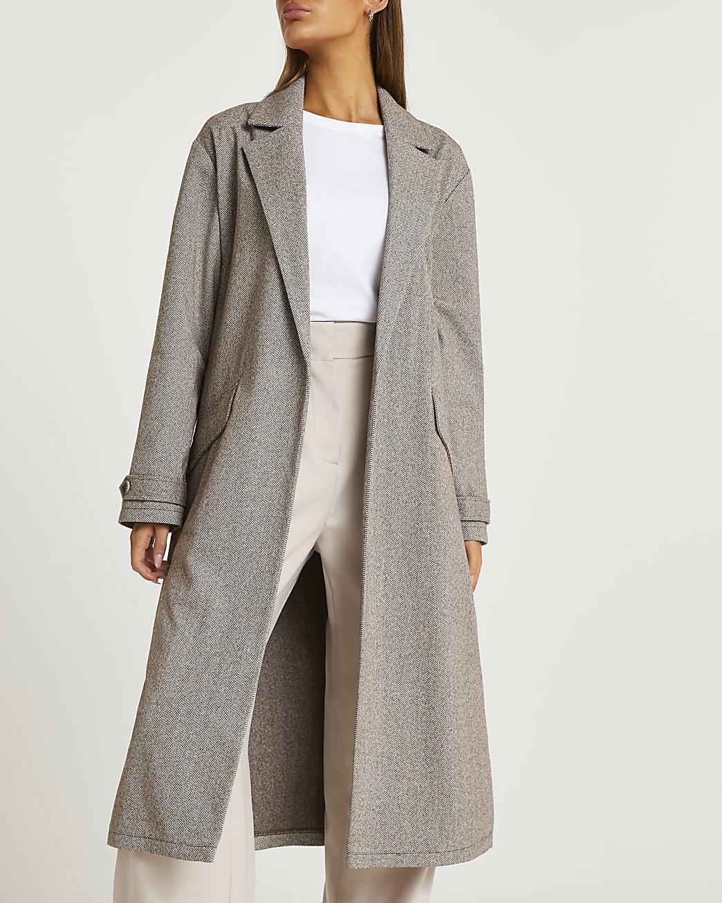 Grey duster coat