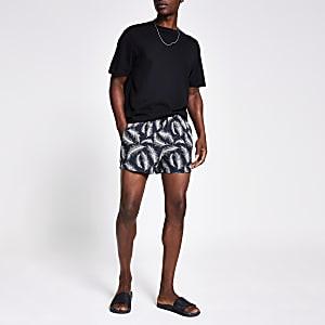 Shorts de bain impriméplume gris