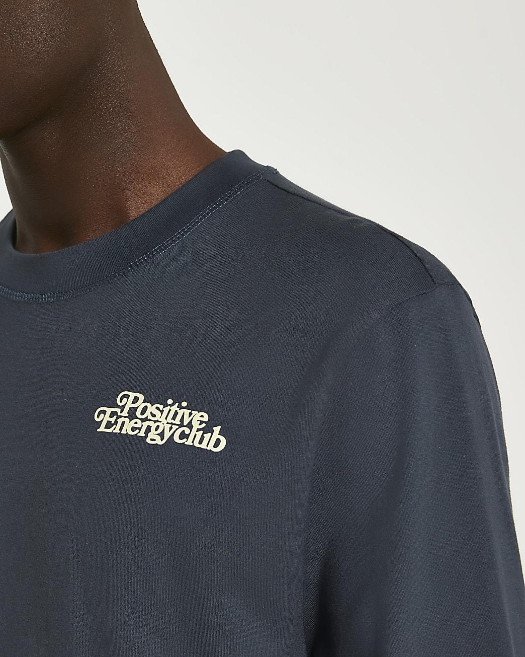 Grey graphic long sleeve t-shirt
