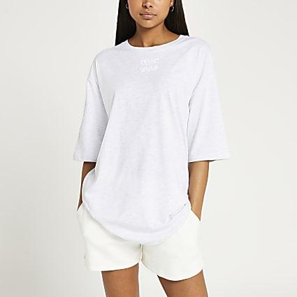 Grey graphic oversized t-shirt
