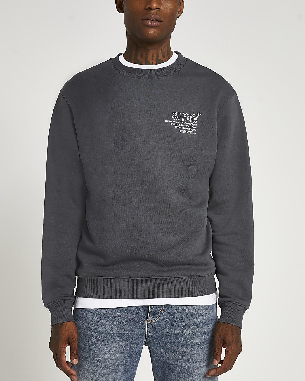 Grey graphic sweatshirt