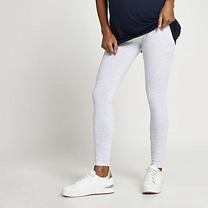 Grey high waisted maternity leggings