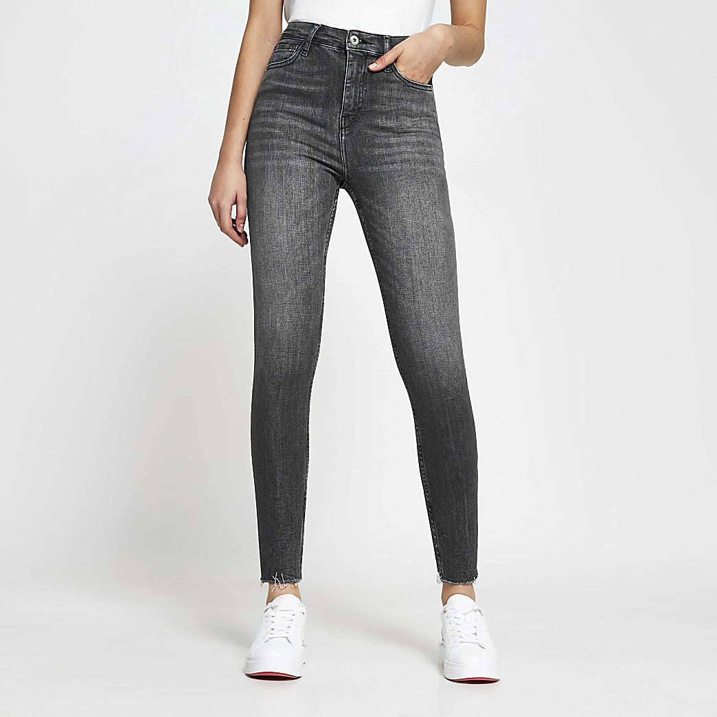 Grey high waisted skinny Jean