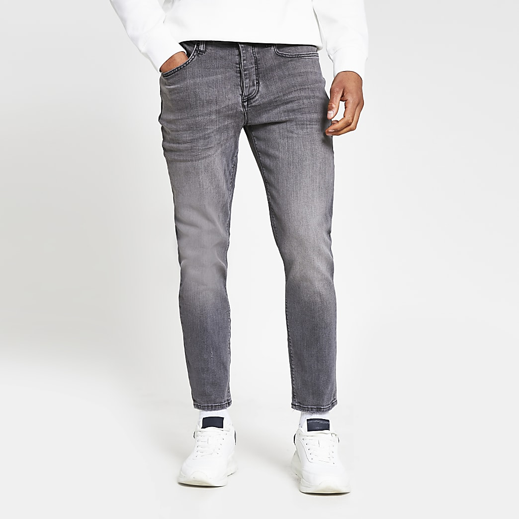 Grey Jimmy tapered fit jeans