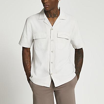 Grey L' Equipe Paris short sleeve shirt