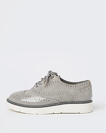 Grey lace up brogues