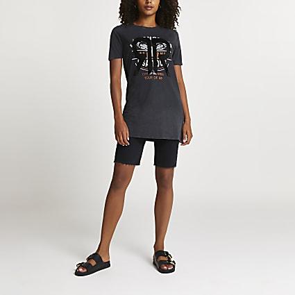 Grey 'Los Angeles' RR oversized t-shirt